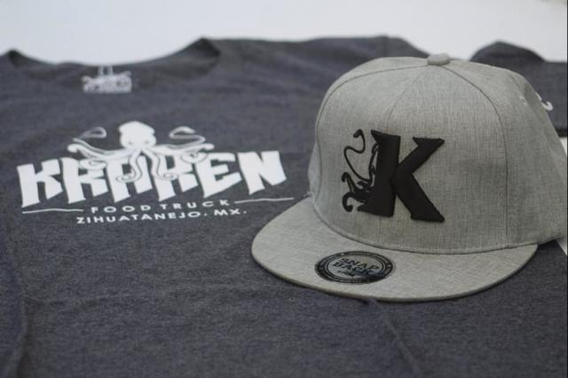 Playera y gorra Kraken Food Truck